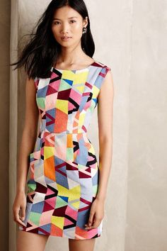 Gorgeous dress! Fractal Prism Sheath - anthropologie.com