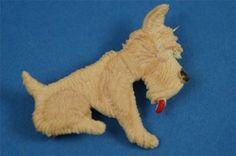 ART-DECO-1930s-Celluloid-Plastic-SCOTTIE-DOG-Pin-BROOCH-Excellent-Condition