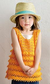 Ravelry: Sawayaka Tanktop pattern by Pierrot (Gosyo Co., Ltd) #freecrochetchart