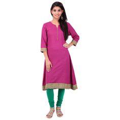 Buy PRAPUN Pink Khadi Kurti by Prapun, on Paytm, Price: Rs.1000