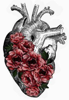 "When they said"" what symbolise your tatto?"" Anatomy Art, Heart Anatomy Drawing, Skull Art, Body Art Tattoos, Medical Art, Anatomical Heart, Heart Art, Gcse Art, Street Art"