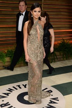 (THE FABRIC). Selena Gomez. The oscars afterparty.