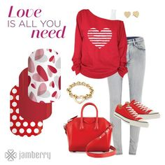 Shabby chic style this Valentines Day - complete your look with Jamberry Nail Wraps. #love #valentinesday #nailswag