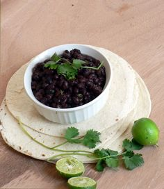 Cafe Rio Black Beans - garlicy with a touch of cilantro. How black beans were meant to taste!