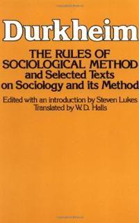 Keywork sociology Rules of Sociological Method (Paperback) ~ Emile Durkheim (Author) Cover Art