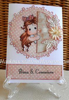Blankina creations: Magnolia Prima comunione Loves Rubberstamps Bloghop
