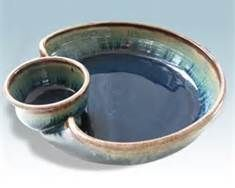 Functional Wheel Thrown Pottery - chip and dip bowl idea