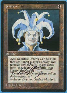Jester's Cap - Ice Age Ice Price, Mtg Decks, Magic Cards, Ice Age, Wizards Of The Coast, Summoning, Magic The Gathering, Deck Of Cards, Custom Art