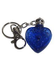 Heart glass vial cobalt for your own blends Buy it here:http://www.sassnfrass.net/#Lorissaleigh