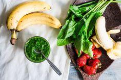 Zelené smoothie so špenátom a ovocím