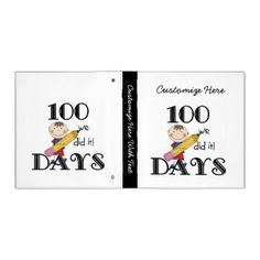 """A stick figure boy with a big pencil and text that reads """"We did it!"""" on 100 days of school T-shirts, mugs, bags, cards, buttons, magnets, keychains, stickers, keepsakes, mousepads, and other 100th day apparel and gift items. #100 #100 #days #100th #day #school #teacher #stick #figures #stick #people #cute #celebrate #100 #days #peacockcards"""