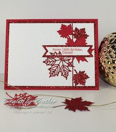 A Stampin' Up! card salute to Canada on it's Birthday using the Seasonal Layers Thinlits Dies for As You See It Challenge Al Image, Pumpkin Cards, Canada Day, Card Making Inspiration, Chalkboards, Stampin Up Cards, Handmade Cards, Card Ideas, Crafts For Kids