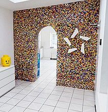 The Lego Wall Divider: It's Pure Therapy! Cool Lego, Awesome Lego, Lego Kitchen, Lego Studios, Lego Wall, Lego Room, Restaurant Concept, Lego Design, Diy Projects To Try