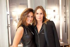 Valérie Messika and Brune De Margerie, Vogue Paris jewelry editor-in-chief, in Messika flagship in Paris