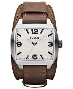 • the world s catalog of ideas fossil watch men s roland brown leather double pad strap 38x44mm jr1387 all watches