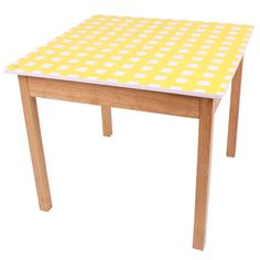 Image detail for -Yellow Gingham Table