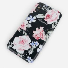 Woman Black Pink Flower Cute TPU Soft Shell Phone Case For iPhone is best and cool on Newchic. Iphone Cases For Girls, Cute Phone Cases, Phone Case Store, Mobile Covers, Couple Gifts, Boyfriend Gifts, Pink Flowers, Floral, Accessories