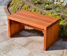 Simple outside wooden Bench | Solid wooden benches and bench seating ...