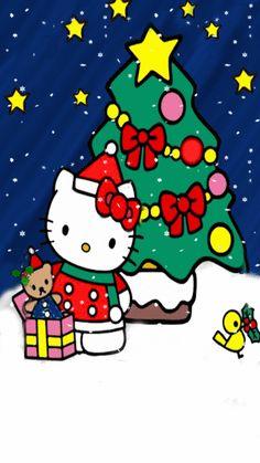 Hello Kitty Christmas, Snoopy Christmas, Christmas Cartoons, Merry Christmas And Happy New Year, Hello Kitty Clothes, Hello Kitty Items, Ruby Gloom, Cute Christmas Wallpaper, Hello Kitty My Melody