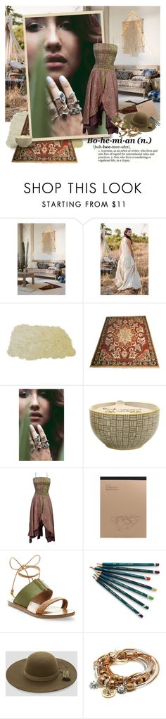 """""""The gypsy"""" by sharmarie ❤ liked on Polyvore featuring Magical Thinking, Wanderdusk, Paddywax, Steve Madden, Ashley Stewart and Lizzy James"""