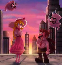 New Donk City Sunset by GreatPeace on DeviantArt Mario Kart, Mario Bros., Mario And Luigi, Peach Mario, Mario And Princess Peach, Hama Beads Minecraft, Perler Beads, The Legend Of Zelda, Metroid