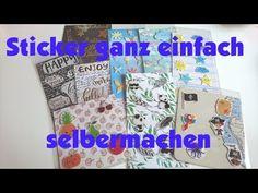 DIY - Sticker ganz einfach selber machen aus Vellum, Stanzteilen und Lightboxfolien ;) - YouTube Diy Scrapbook, Scrapbooking, Diy Stickers, Journaling, Memories, Youtube, Pink, Simple, Tape