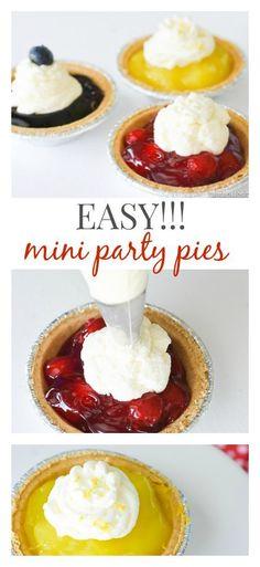 Easy No-Bake Mini Party Pies! http://fantabulosity.com