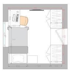9 qm Kinderzimmer einrichten - Tipps und Grundriss ...
