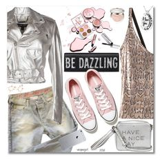 """Be Dazzling!"" by vespagirl ❤ liked on Polyvore featuring Ralph Lauren Black Label, Yves Saint Laurent, Each X Other, Anya Hindmarch, Converse, Bobbi Brown Cosmetics, Christian Dior, women's clothing, women and female"