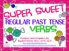 Speechie Freebies: Super Sweet Verbs! Pinned by SOS Inc. Resources. Follow all our boards at pinterest.com/sostherapy/ for therapy resources.