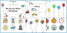 Scissor Cutting Skills Workbook - An extremely useful little resource, can be used in the classroom or sent home for practise!