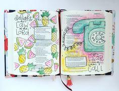 Bible Journaling by @bumbleandbristle