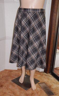 Notations woman skirt knee length multi color polyester blend sz plus 3X flair #Notations #FullSkirt