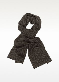 Christian Dior Woven Signature Wool Scarf