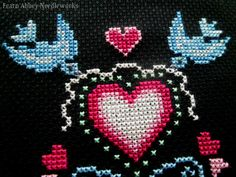Fearn Abbey Needleworks: FREE: Hearts & Birds - what a pretty love-theme stitch