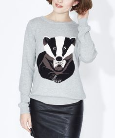 This Gray Badger Sweater by Sugarhill Boutique is perfect! #zulilyfinds