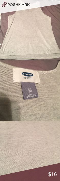 Grey sparkle tank top blouse old navy XL Brand new without tags Old Navy Tops Blouses