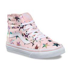 205ce186cdac2c New Vans SK8-HI Zip Foil Stars Pink VN-0A32R3QQU Infant Toddler Girl Size 4  -10