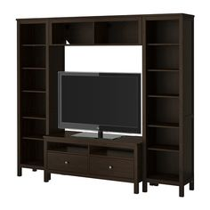 HEMNES TV storage combination - black-brown  - IKEA