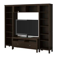 HEMNES Tv-/säilytyskokonaisuus - mustanruskea - IKEA