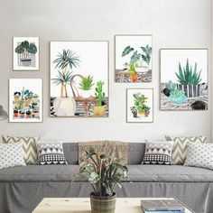 Succulents Potted Plants Cactus Nordic Poster Cuadros Decoracion Wall Pictures For Living Room Wall Art Canvas Painting Unframed - Decoration For Home Home Decor Bedroom, Living Room Decor, Bedroom Furniture, Living Rooms, Bedroom Ideas, Bedroom Plants, Design Bedroom, Bedroom Wall, Master Bedroom