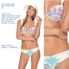 Our Moroccan bikini. New underwire top with basic bottom. Perfect colors and styles!