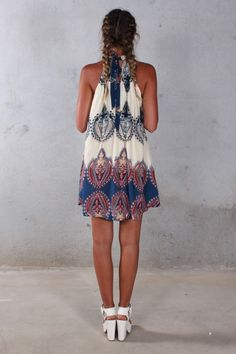 Hippie/Boho Syle Sleeveless Beach Dress