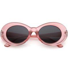 8e9909931c Retro 1990 s Fashion Transparent Thick Clout Goggle Oval Sunglasses C506