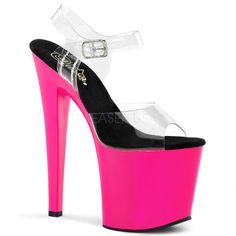 Find Great For Sale Pleaser Flamingo 810LG Ankle-Strap Sandal(Women's) -Hot Pink Glitter/Hot Pink Glitter Footlocker Online Discount Low Price Fee Shipping For Sale Sale Online HKXpH