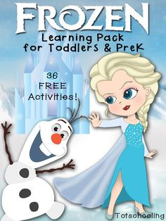 This Frozen Learning Pack from Totschooling is perfect for toddlers and preschoolers who love the Disney movie Frozen. This is a fun pack with 36