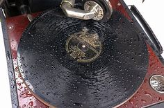 A 5 minute downpour did not stop us from playing 78 records at a wedding.