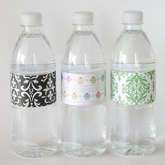 make your own custom water bottle labels ~ tutorial ~ cost per label is pennies ~ glorioustreats.blogspot.com