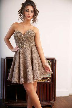Strapless Flare Jovani Dress