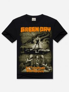 Black 3D Green Day Printed Cotton T-Shirt Plus Size Short-Sleeved Hipster Clothes for Men